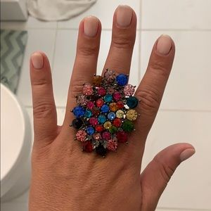 Vintage multi colored statement ring